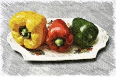 """Three Sweet Peppers"" by Robert Edmondson"
