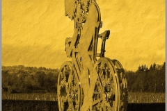 'Cyclist Yellow' by Peter Shelley