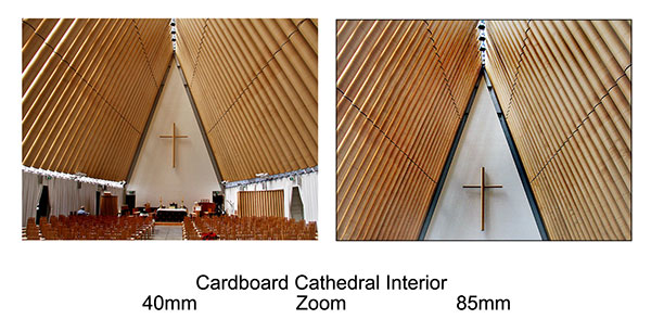 Cardboard Cathedral Interior