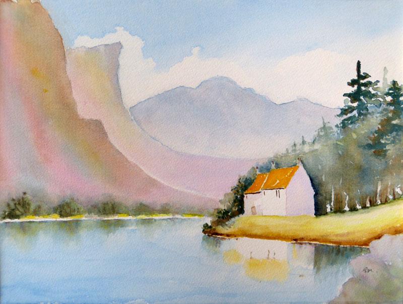 Lakeland scene by Elaine Major