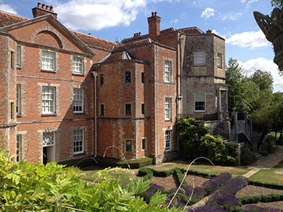 The 18th-century mansion stands on the site of an Augustinian priory founded in 1201 (photo: Phyllis Hughes)