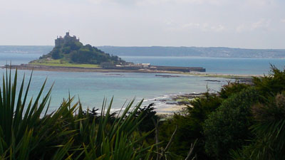 The tide was out at St Michael's Mount