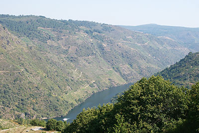 The Sil river in the Ribeira Sacra wine region